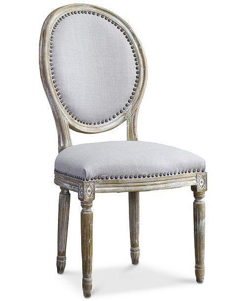 Strange Bordon Round Gray Linen French Accent Chair Gamerscity Chair Design For Home Gamerscityorg