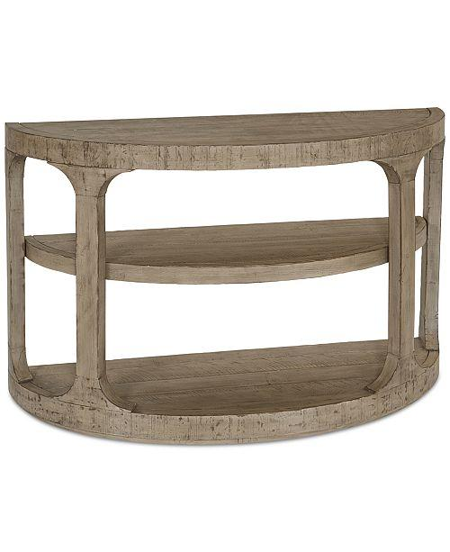 Vintage Artisan Console Table In Abbott Tan
