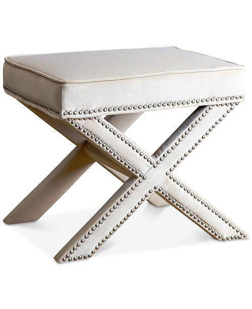 Winston Bonded Leather Ottoman Living Room Furniture