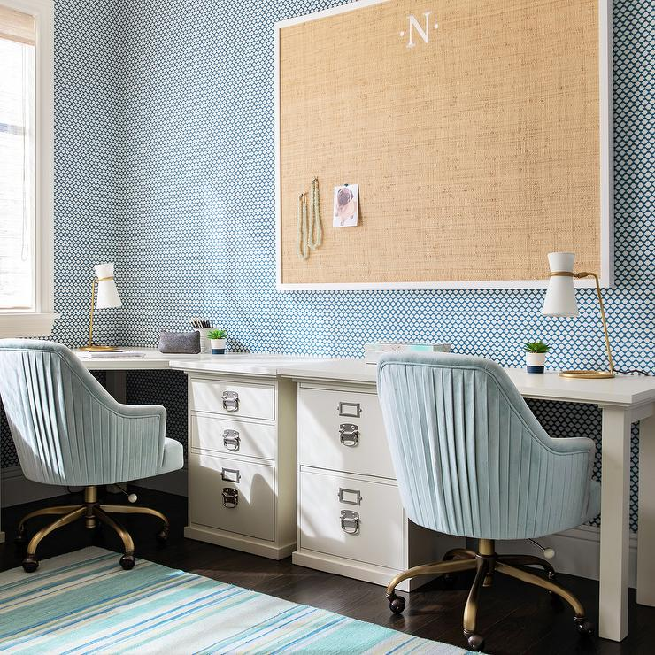 Miraculous Large Burlap Pin Board Over File Cabinet Desk Transitional Download Free Architecture Designs Momecebritishbridgeorg