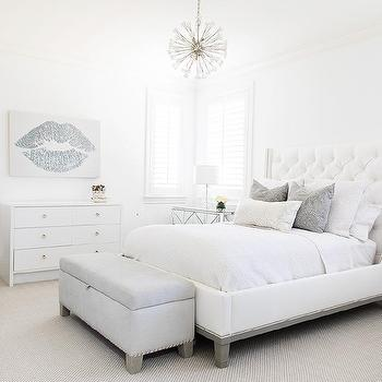 Gray Glam Bedroom Design Ideas