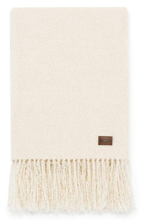 UGG Gray Ombre Textured Weave Blanket