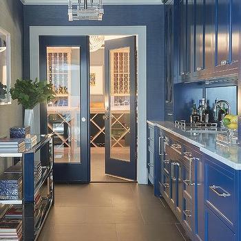 French Blue Tile Backsplash Design Ideas