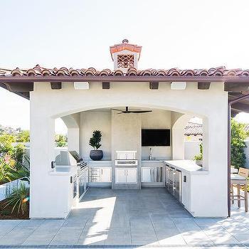 U Shaped Outdoor Kitchen Design Ideas