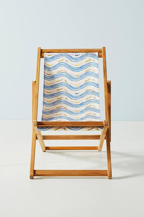 Incredible Emily Isabella Blue Yellow Waves Beach Chair Onthecornerstone Fun Painted Chair Ideas Images Onthecornerstoneorg