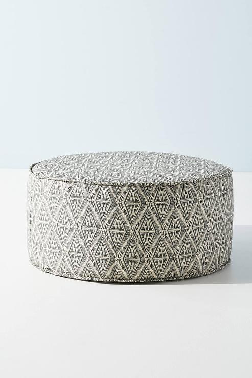 Pleasant Clive Round Diamond Pattern Charcoal Ottoman Ibusinesslaw Wood Chair Design Ideas Ibusinesslaworg