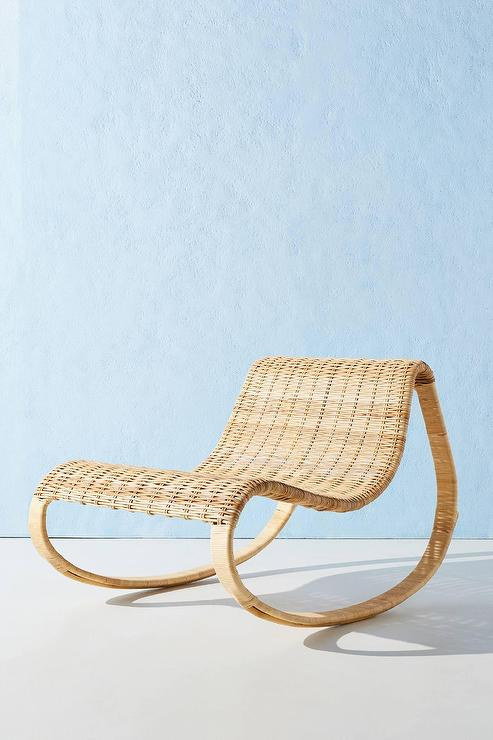 Amazing Neutral Rattan Curved Rocking Chair Spiritservingveterans Wood Chair Design Ideas Spiritservingveteransorg