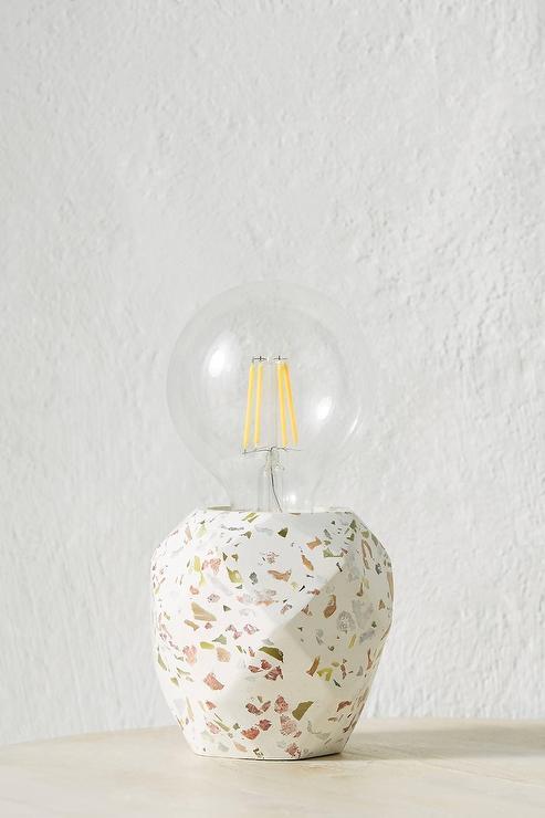 Carmen Geometric White Terrazzo Accent Lamp