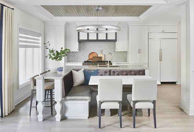 L Shaped Dining Banquette on L Shaped Kitchen Island ...