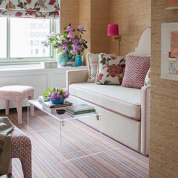 Pink Grasscloth Wallpaper Design Ideas