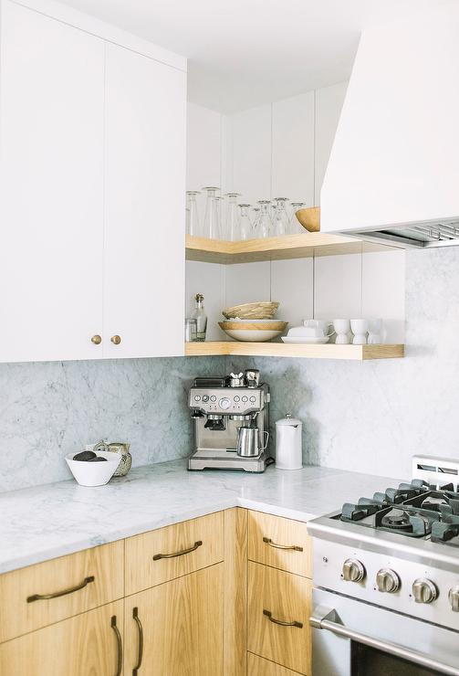 Kitchen Corner Shelves Design Ideas