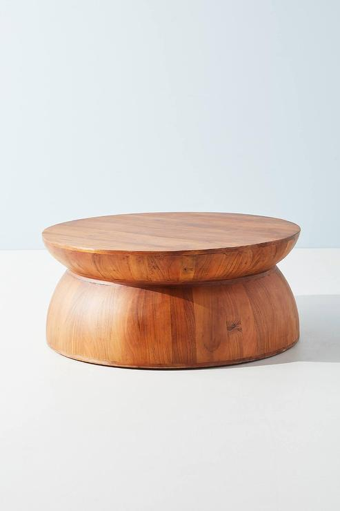Betania Round Natural Acacia Wood Coffee Table