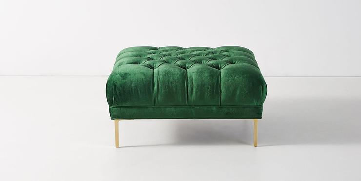Button Tufted Upholstered Ottoman Sandstone Target