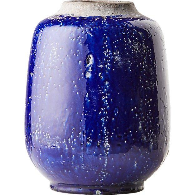blue decorative vases.htm jacque blue glazed textured terracotta vase  jacque blue glazed textured terracotta vase