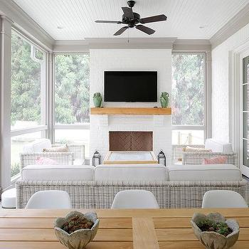 Floor To Ceiling Fireplace With Tv Design Ideas