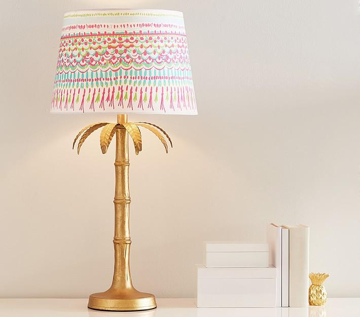 Lilly Pulitzer Gold Palm Tree Table Lamp