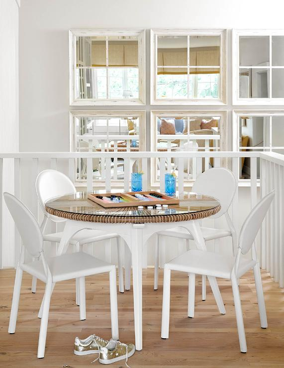 White Ghost Chairs At Round Game Table, Round Gaming Table With Chairs
