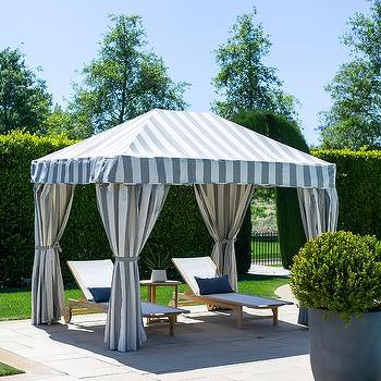 Gray Stripe Cabana Design Ideas