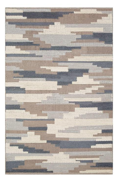 Cocoon Taupe Gray Geo Striped Loomed Rug