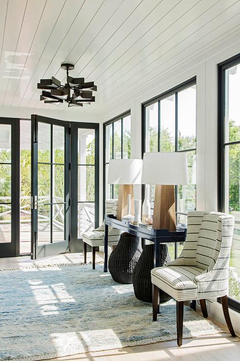 Fantastic White And Gray Stripe Accent Chairs Transitional Inzonedesignstudio Interior Chair Design Inzonedesignstudiocom