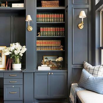 Dark Gray Built Ins Design Ideas