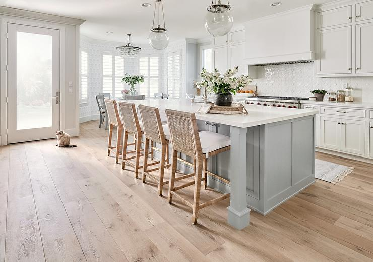 Astonishing Light Gray Island With Serena And Lily Balboa Counter Stools Dailytribune Chair Design For Home Dailytribuneorg