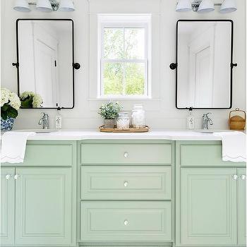 Mint Green Floating Bath Vanity Design Ideas