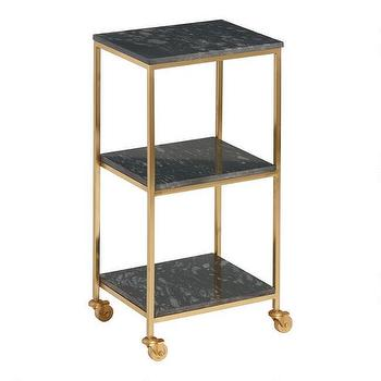 Four Shelf Wooden Gavin Rolling Cart