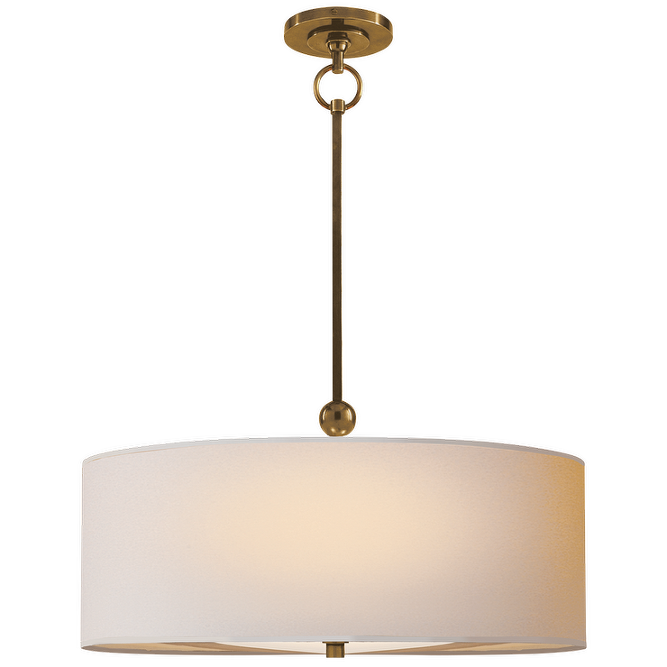 Deco White Three Tier Drum Pendant
