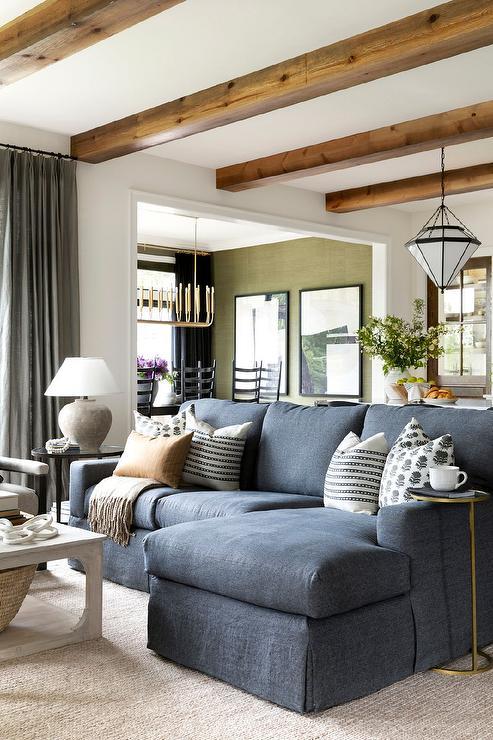 Charcoal Gray Vvlvet Sofa Contemporary Living Room