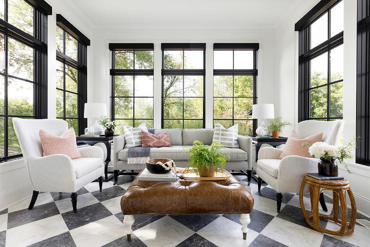 Incredible Gray Stripe Wingback Chair With Pink Pillow Transitional Camellatalisay Diy Chair Ideas Camellatalisaycom