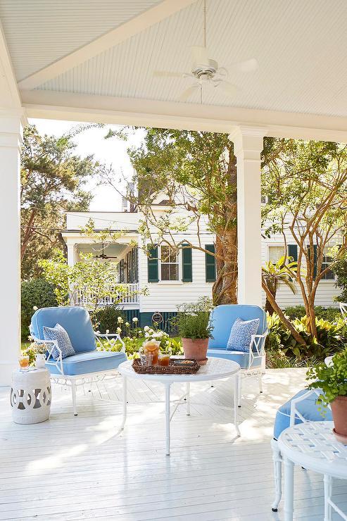 White Wrought Iron Coffee Table, White Rod Iron Outdoor Furniture