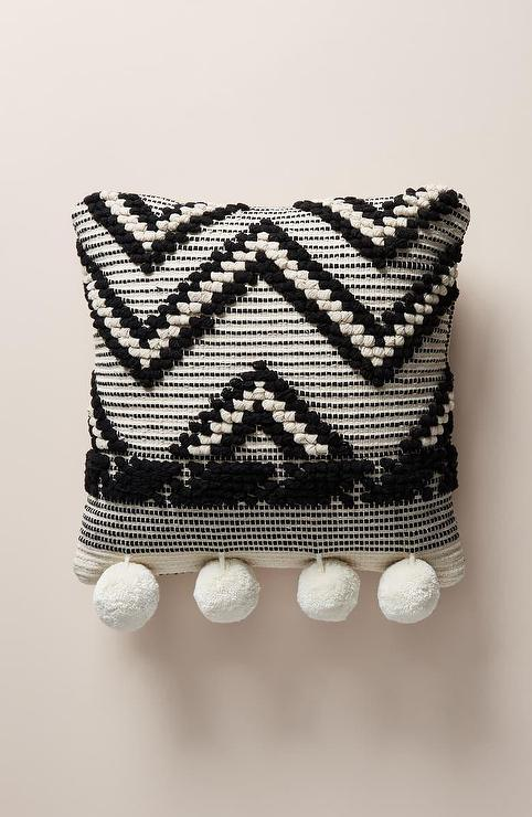 Pixel And Houndstooth Black And Red Needlepoint Pillows