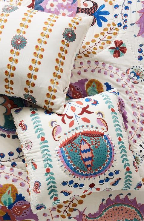 Floral Medallion Pattern Patchwork Sham
