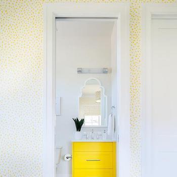 Mustard Yellow Bath Vanity Design Ideas