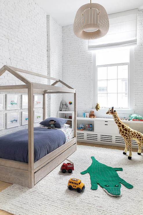Rh Baby And Child Cole House Trundle Bed Contemporary Boy S Room