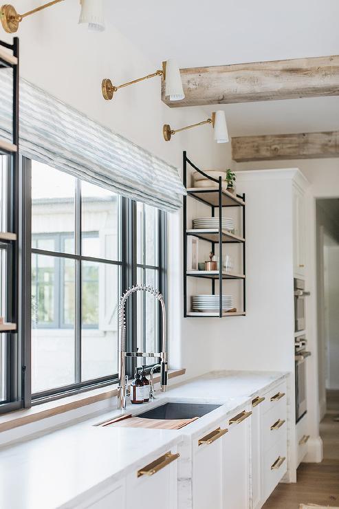 Kitchen Sink with Sliding Cutting Board   Transitional   Kitchen