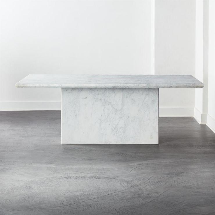 Verona White Marble Dining Table