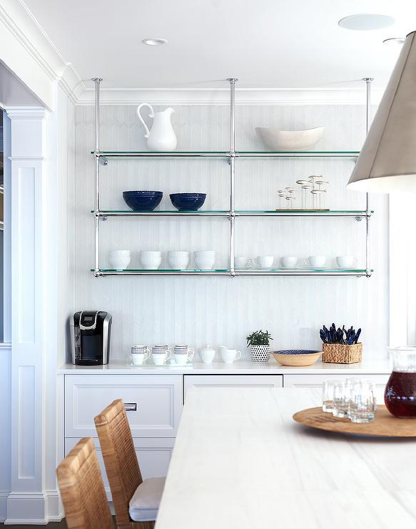 French Style Kitchen Wall Shelves Cottage Kitchen