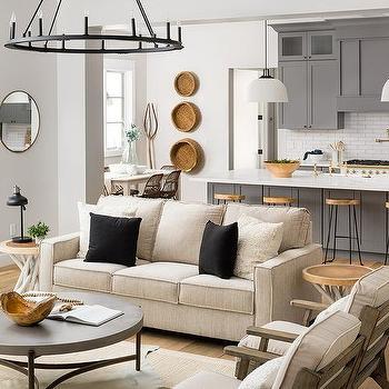 Beige Neutral Living Room Design Design Ideas
