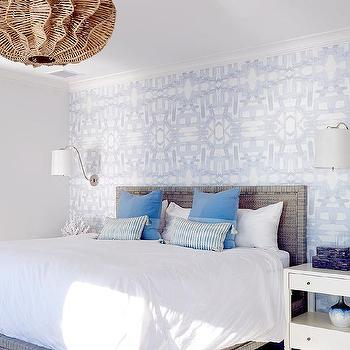 Gray Wallpaper Accent Wall Design Ideas