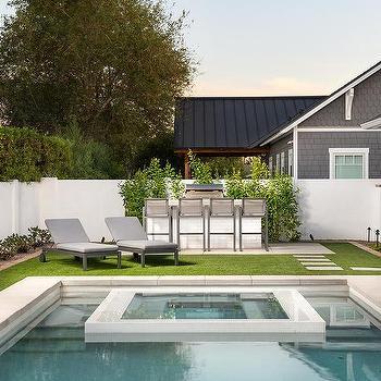 White Brick Outdoor Kitchen Design Ideas