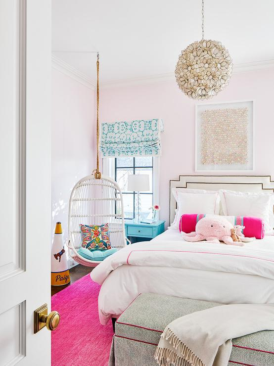 Pink and Turquoise Girls Room Design - Contemporary - Girl\'s ...