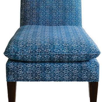 Slipper Sky Blue Armless Chair