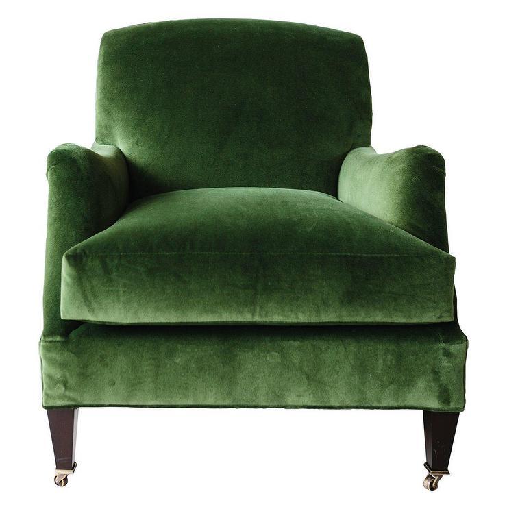 Fabulous Moss Green Velvet Rolled Arm Chair Gamerscity Chair Design For Home Gamerscityorg