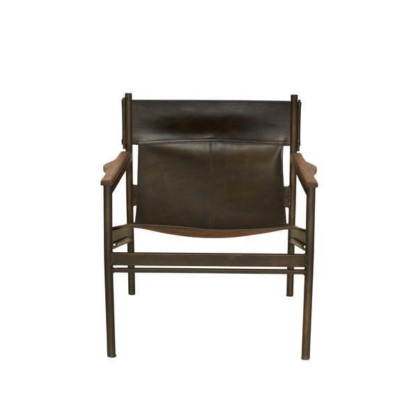 Peachy Barcelona Brown Leather Bronze Sling Chair Creativecarmelina Interior Chair Design Creativecarmelinacom