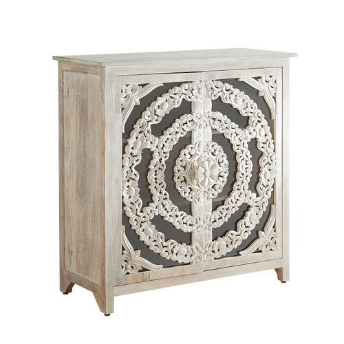 Lace Cut Oak Entertainment Console