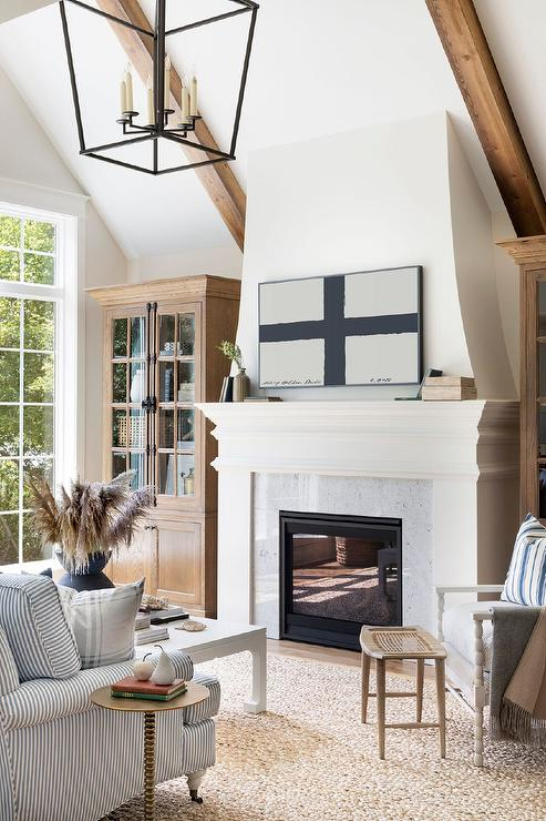 Freestanding Cabinets Flanking Fireplace Design Ideas