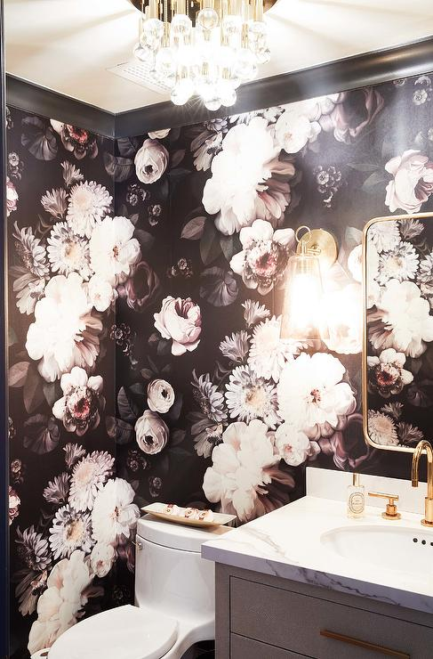 Ellie Cashman Dark Floral Wallpaper in
