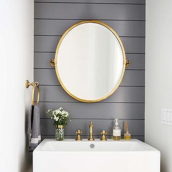 Weathered Oak Vanity Design Ideas, Weathered Oak Bathroom Vanity Mirror